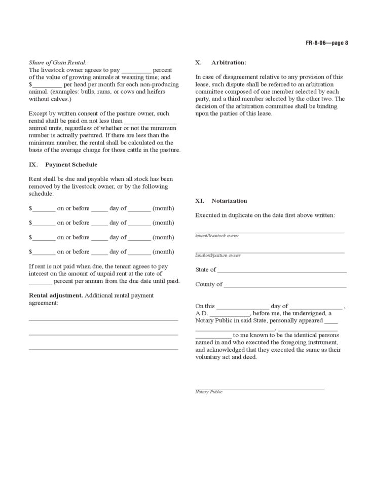 Farmland Rental and Lease Form Ohio Free Download – Land Rental and Lease Form