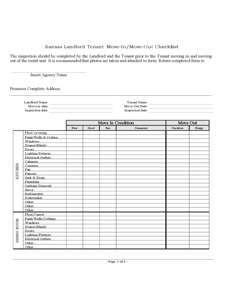 move out checklist template .