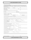 Landlord Reference Form Free Download