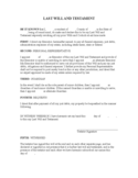 Two-Page Last Will and Testament