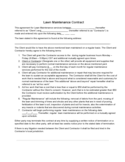 Lawn Maintenance Contract Free Download