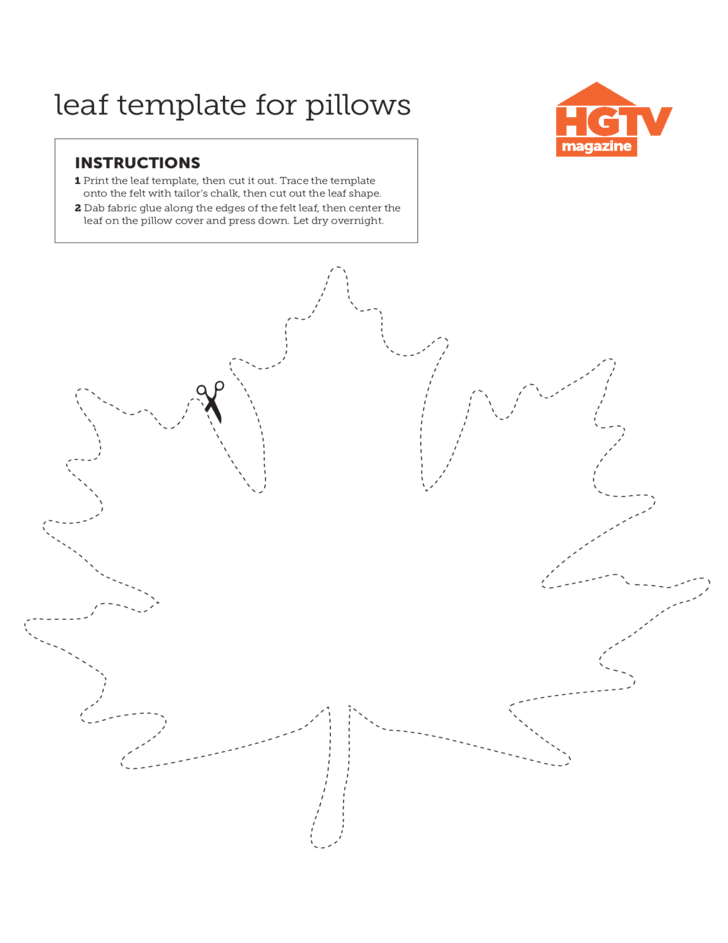 Leaf Template for Pillows
