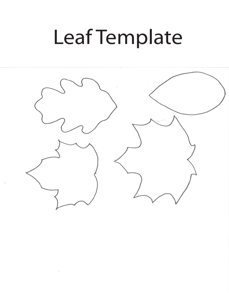 Leaf Template Sample