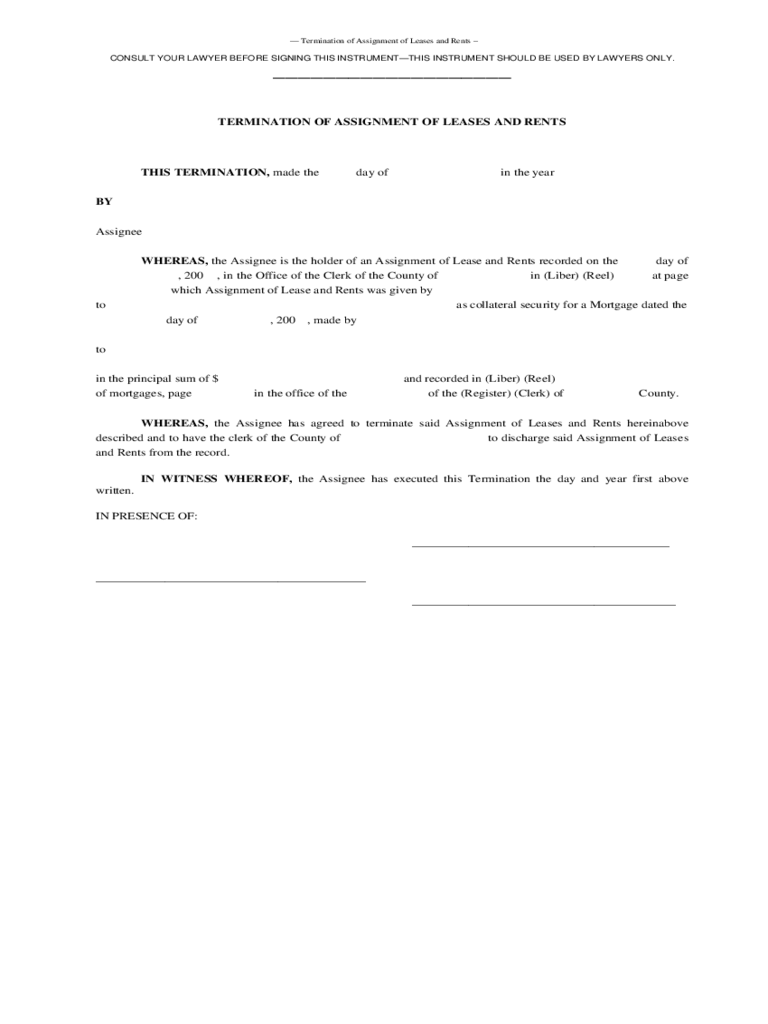 ... Lease Assignment Letter Lease Termination Form 4 Free Templates In Pdf  Word Excel ...