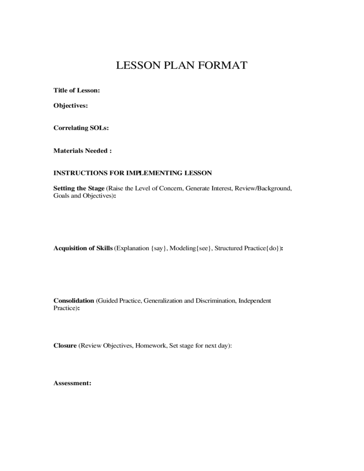 40 Lesson Plan Templates Free Premium Templates April Jimenez