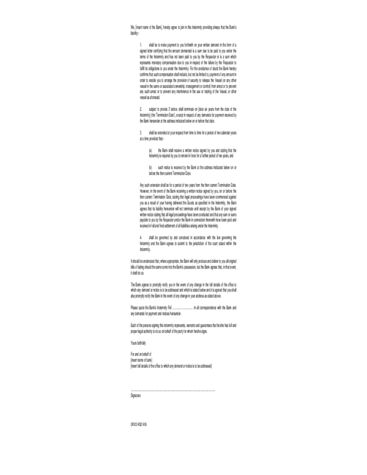 Standard Form Letter Pictures to Pin PinsDaddy – Indemnity Letter Template