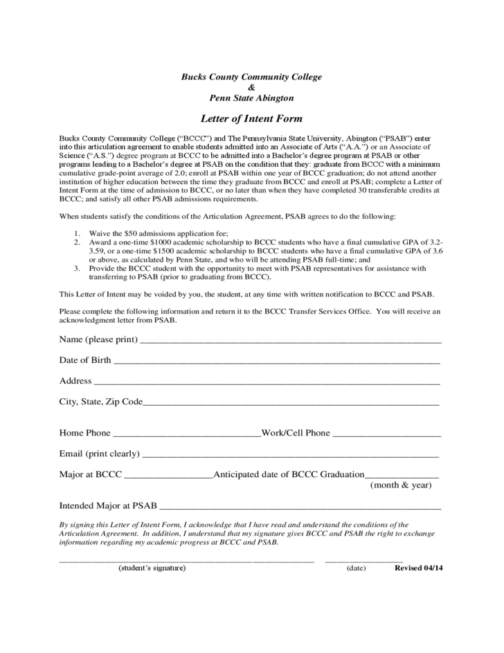 letter of intent sample form free download
