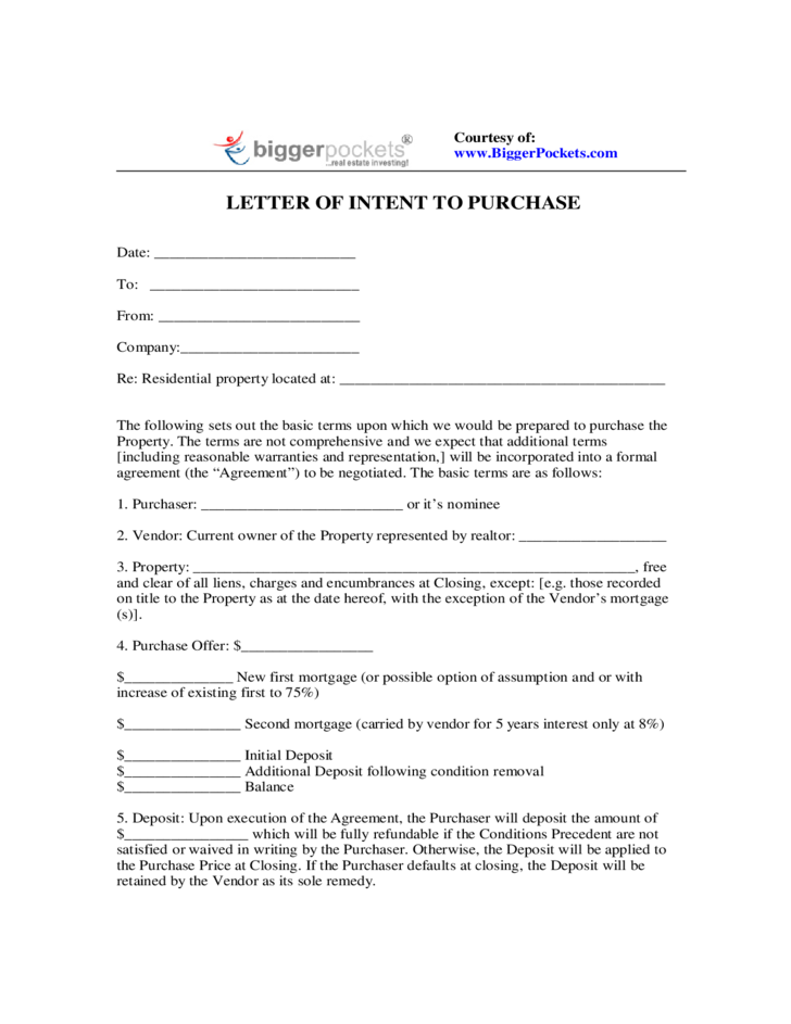 Letter of intent to purchase free download 1 letter of intent to purchase spiritdancerdesigns Image collections