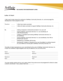 Sample Form of Letter of Intent