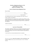 Letter of Intent or Acknowledgement Form