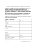 Letters of Administration with Will Annexed Application Form Free Download
