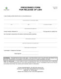 Form VTR-266 - Prescribed Form for Release of Lien - Texas