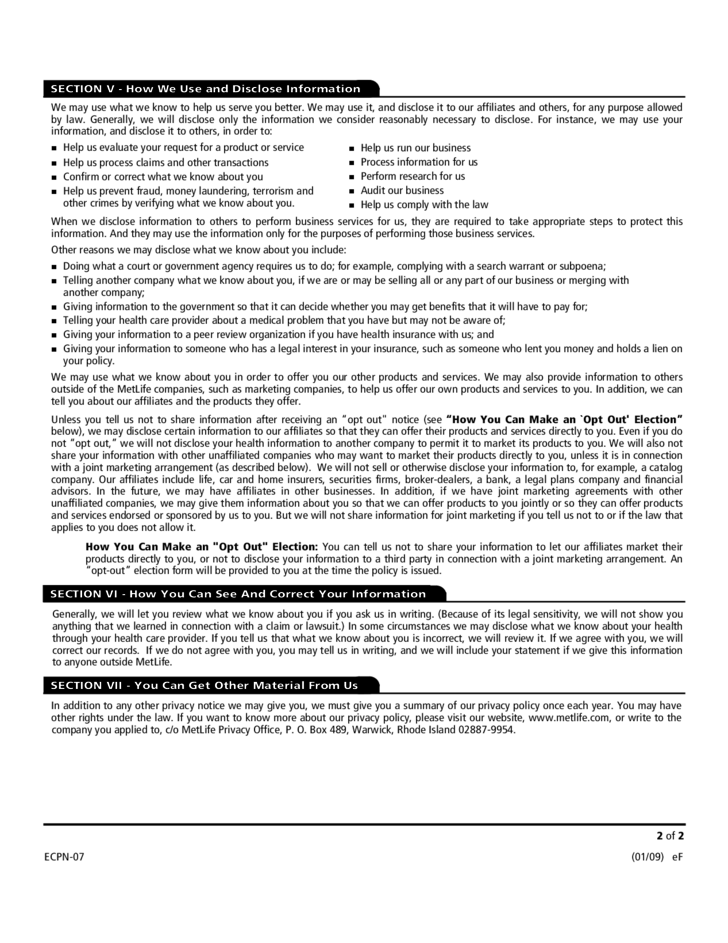 Life Insurance Application Form - California Free Download
