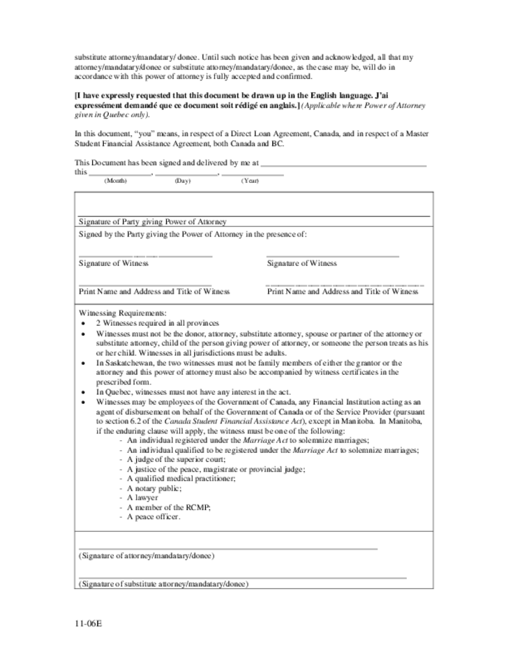 power of attorney form quebec canada  Limited Power of Attorney - British Columbia Free Download