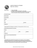 Limited Power of Attorney State Form - Indiana
