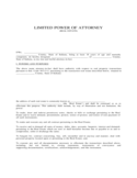 Limited Power of Attorney for Real Estate - Indiana