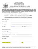 Limited Power of Attorney Template - Maine