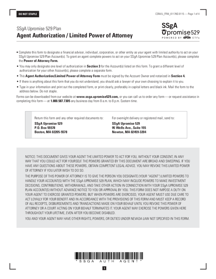 Limited Power Of Attorney Nevada Free Download