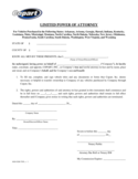 Blank Limited Power of Attorney Template Free Download
