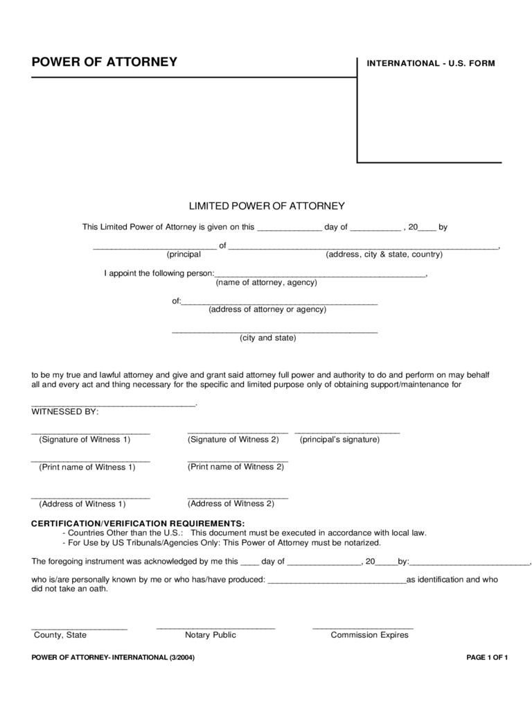 Power of attorney form wv image collections standard form examples limited power of attorney form 37 free templates in pdf word limited power of attorney international falaconquin