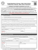 Form T-8 - Limited Power of Attorney - Georgia Motor Vehicle Division