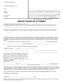 Limited Power of Attorney Form - California