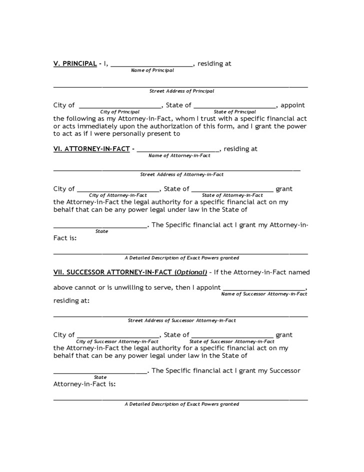 Free Power Of Attorney Form Florida Download