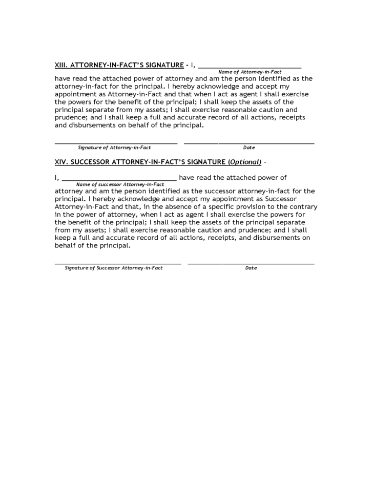 Limited Power of Attorney Form - Florida Free Download