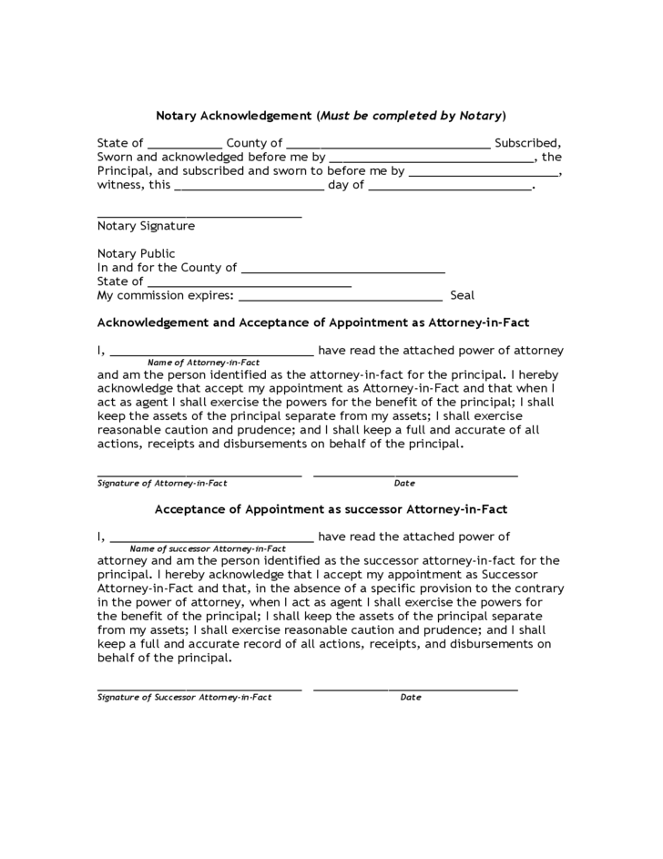 Limited Power of Attorney Form - Florida
