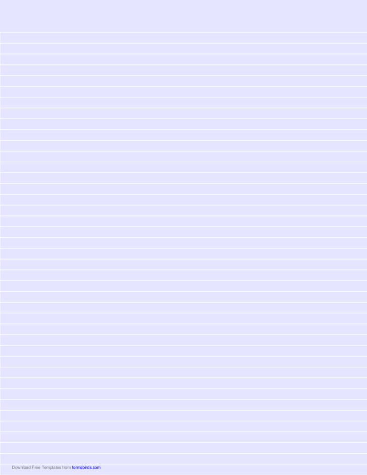 Lined Paper - Light Blue - Narrow White Lines