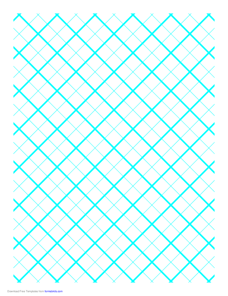 Graph Paper for Quilting with 2 Lines per Inch and Heavy Index Lines