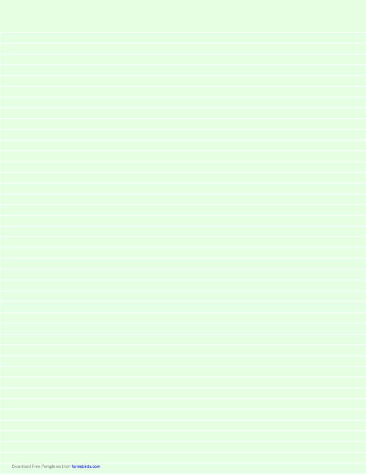 Lined Paper - Light Green - Narrow White Lines