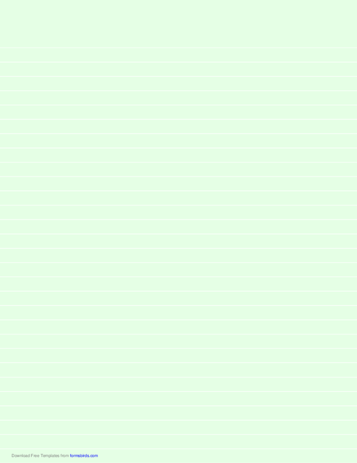 Lined Paper - Light Green - Wide White Lines
