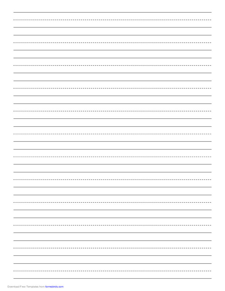 Penmanship Paper with Twelve Lines per Page