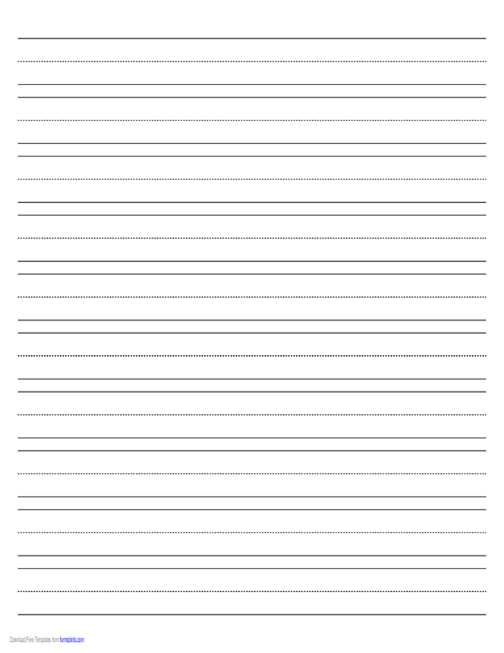 Penmanship Paper with Ten Lines per Page on Legal-Sized Paper