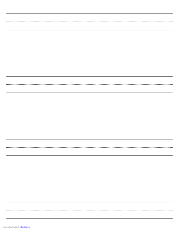 Penmanship Paper with Four Lines on Legal-Sized Paper in Landscape Orientation