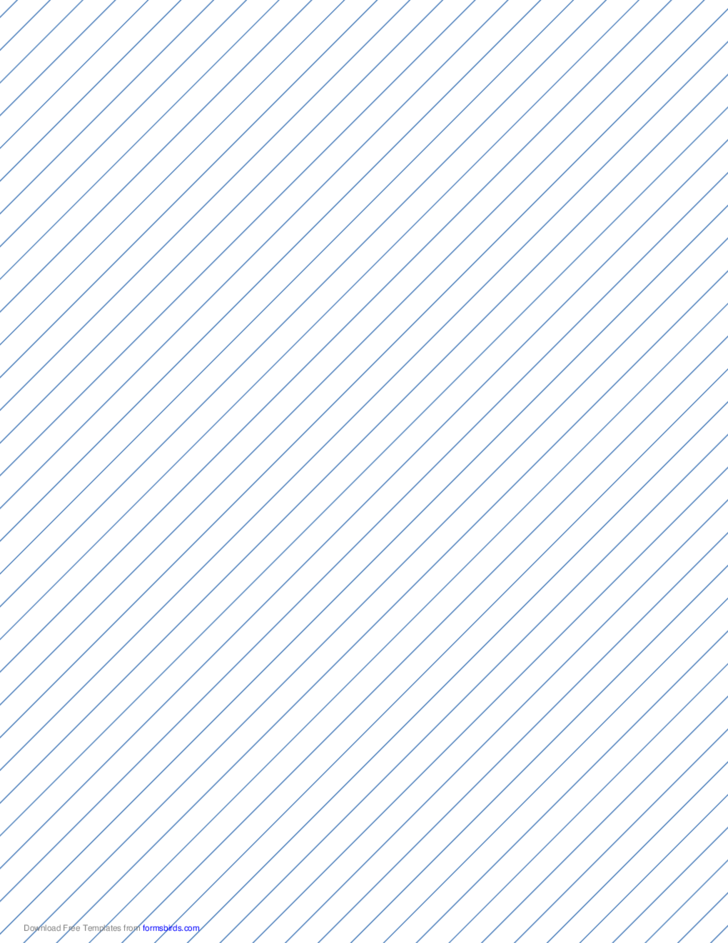 Slant Ruled Paper with Medium Ruled Right-Handed, High Angle - Bule Lines