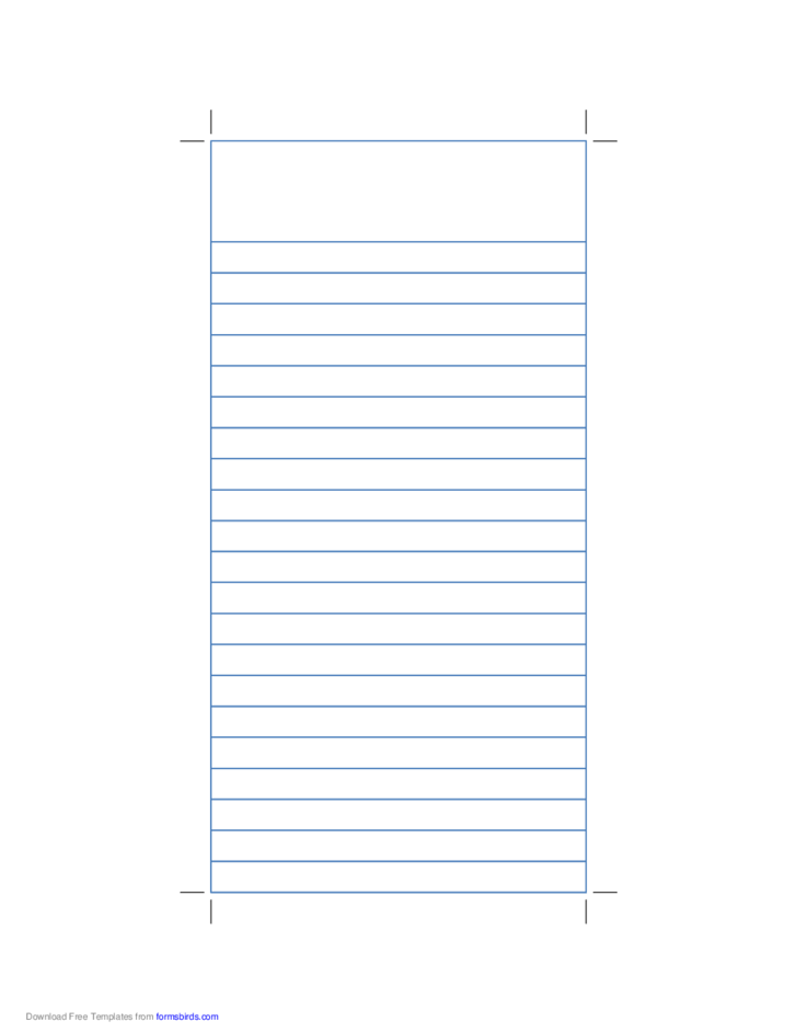 Reporter Notebook Paper with Blue Lines
