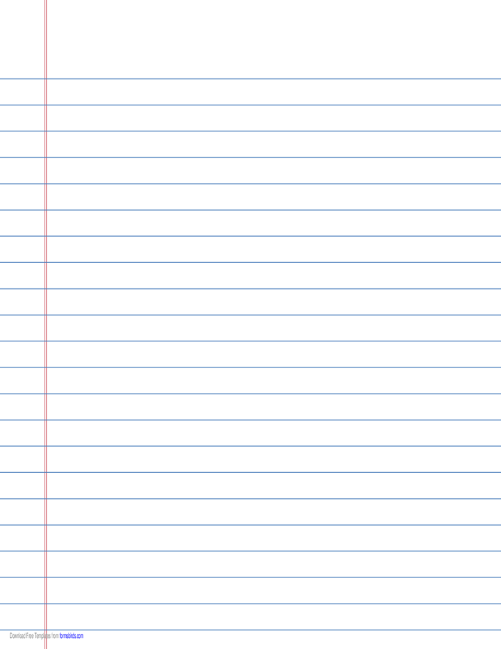 Wide Ruled Lined Paper On Legal Sized Paper In Landscape
