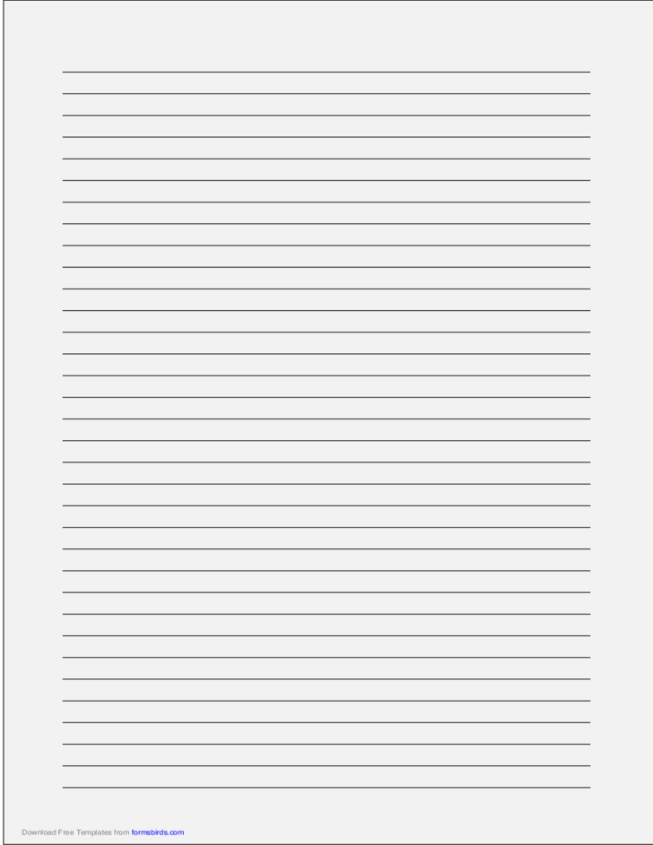 A4 Size Lined Paper with Medium Black Lines - Pale Gray
