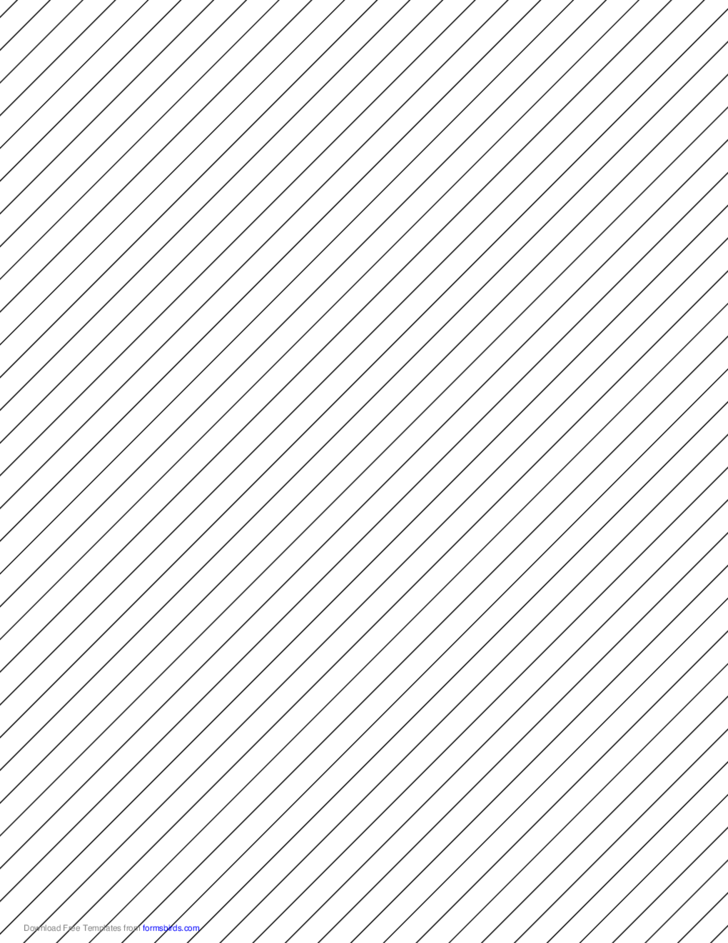 Slant Ruled Paper - Medium Ruled Right-Handed, High Angle