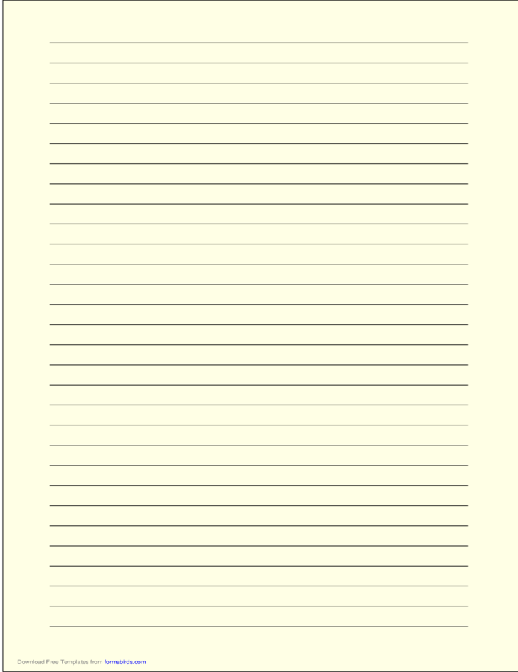 a4 size lined paper with wide black lines