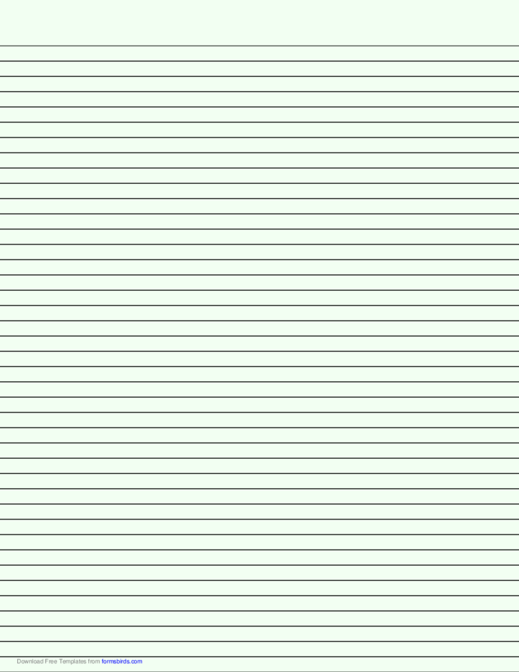 Lined Paper with Narrow Black Lines - Pale Green