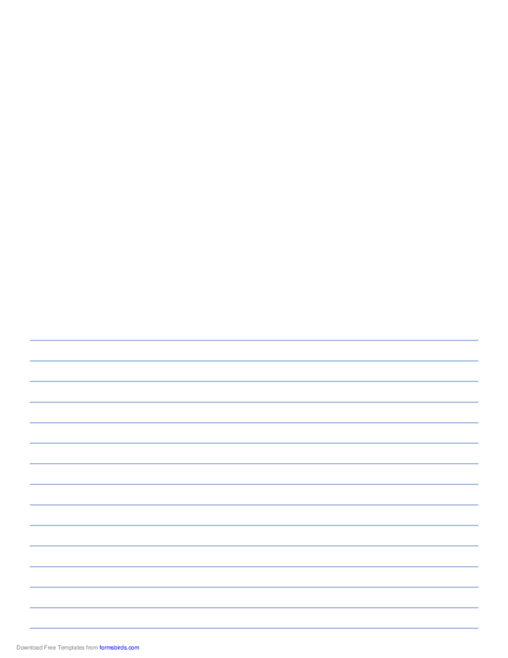 writing paper with room for picture  blue lines  free download