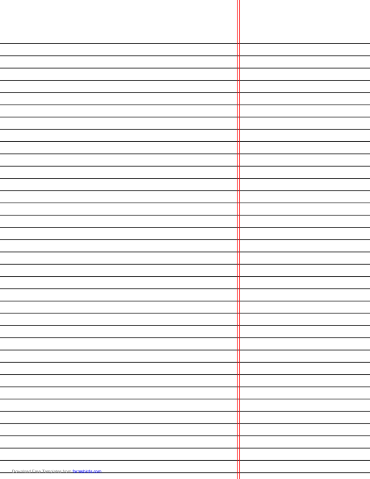 Law Ruled Paper Template Reversed Black Lines Free