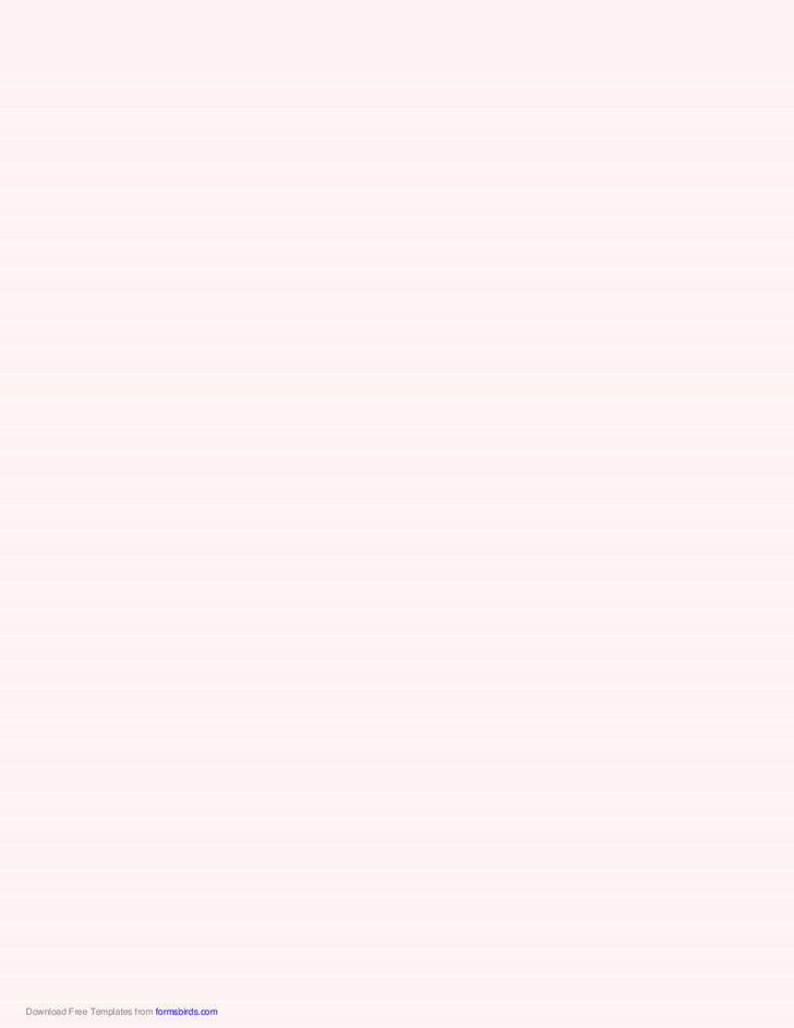 Lined Paper - Pale Red - Medium White Lines