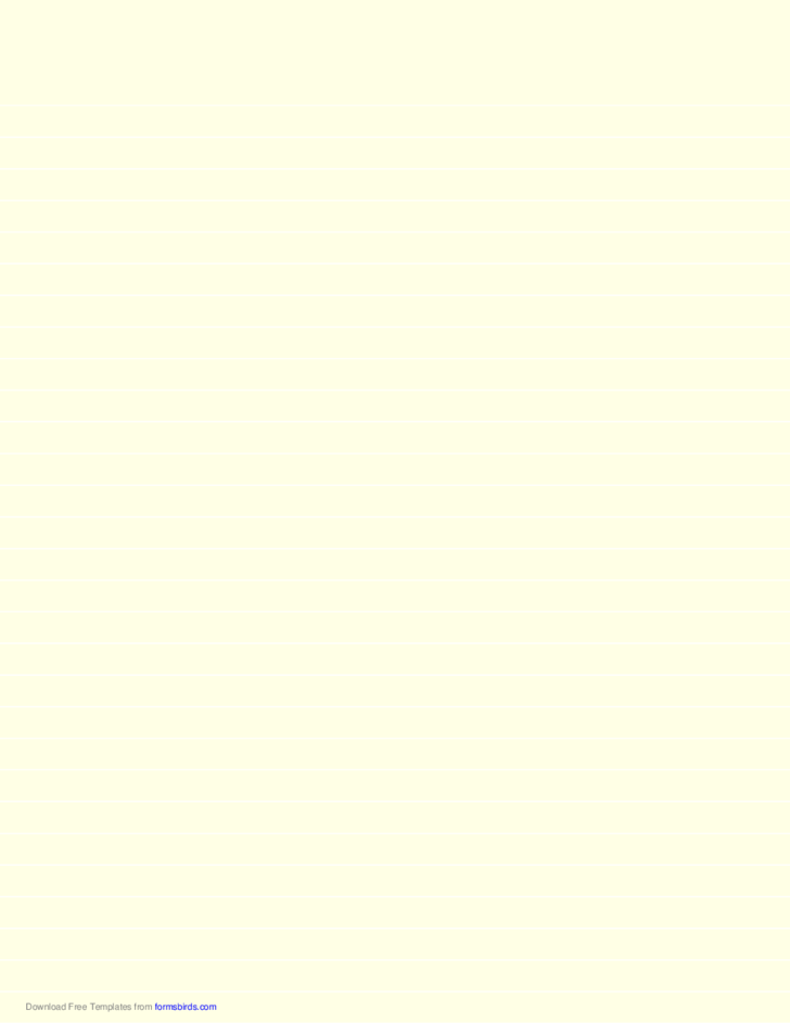 Lined Paper - Light Yellow - Wide White Lines