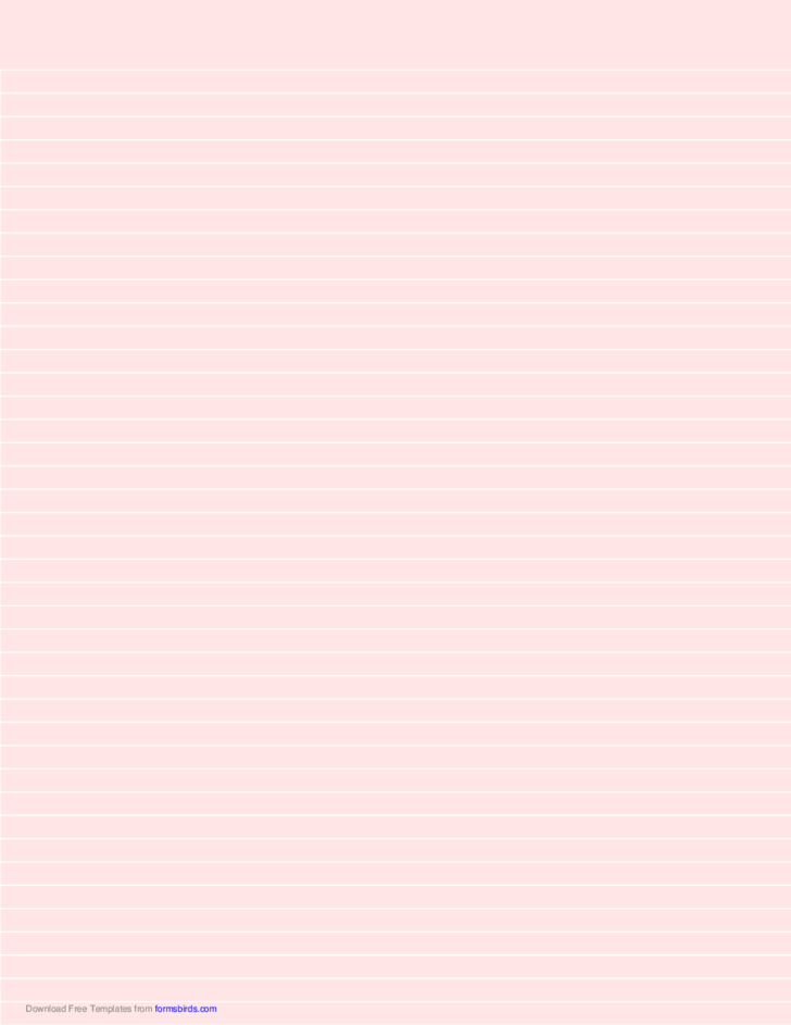 Lined Paper - Light Red - Narrow White Lines