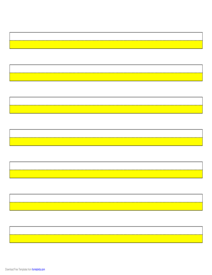 Highlighter Paper - Yelllow - 5 Narrow Lines