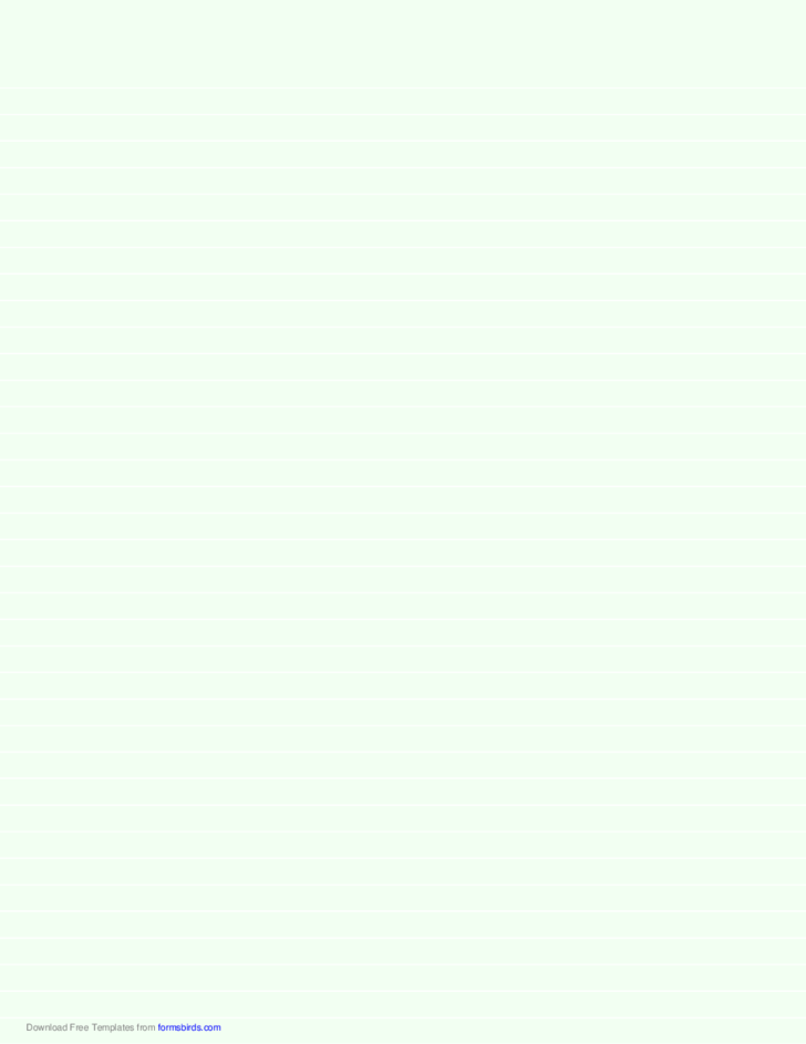 Lined Paper - Pale Green - Medium White Lines